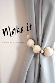 White Antler Curtain Tie Back by Beautiful Diy Curtain Ties Backs On A Budget Interior