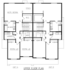 Small Duplex Floor Plans by Design Lines Inc Plan 1777 Duplex