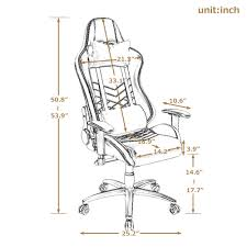 High Back Executive Gaming Chair Ergonomic Computer Desk ...