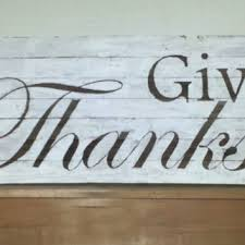 Barn Wood Give Thanks Thanksgiving Sign November Rustic