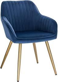 lestarain 1 stück esszimmerstuhl küchenstuhl wohnzimmerstuhl sitzfläche aus samt polsterstuhl mit armlehne metallbeine polstersessel stuhl für