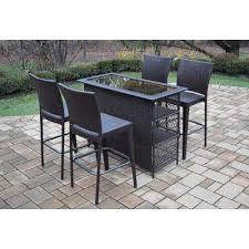 wicker bar height patio set bar height dining sets outdoor bar furniture the home depot