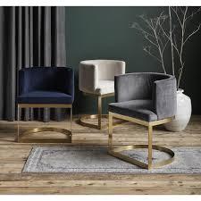 nordal lounge stuhl mit creme samt sitzfläche und
