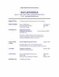 Food Pantry Volunteer Resume Beautiful Profile Examples For High School Students New