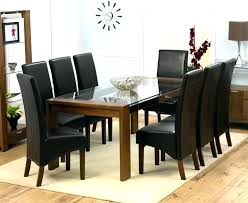 Round Dining Table 8 Chairs Large Seats Glass