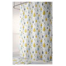 Yellow And Gray Bathroom Decor by Shower Curtain Bathroom Decor Gray Shower Curtain Home