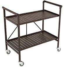 Amazon Rolling Serving Cart Wheels Outdoor Folding Portable