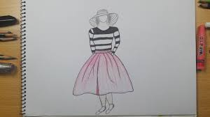How To Draw A Girls Dress Easy Step By