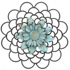 Black Metal Wall Decor With Blue Flower Center Shop Hobby Lobby