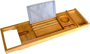 Bamboo Bathtub Caddy Tray by Bamboo Bathtub Caddy And Tray Rack Holds Drink Book Tablet