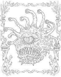Dungeons Dragons Coloring Book Additional Image Click To Zoom