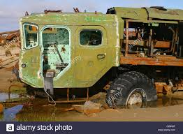 100 Maz Truck Abandoned Dismantled Artillery Truck MAZ543 Rooted Wheels In The