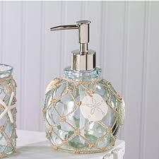 sea glass resin coastal bath accessories