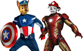 Paw Patrol Captain America Iron Man Coloring Pages