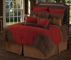 Red Rodeo Oversized Comforter Bed Set Dark