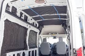 Completed Insulation In Van