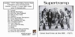 Deus Ex Machina Smashing Pumpkins by Reliquary Supertramp 1975 03 09 Crime And Crisis At The Bbc Sbd