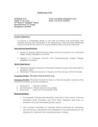 Business Resume Objective Statement Examples For Marketing Masters