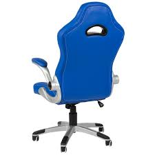 Mainstays Desk Chair Multiple Colors Blue by Executive Office Chair Pu Leather Racing Style Bucket Desk Seat