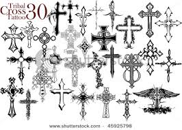 Tattoos Cross On Tribal Tattoo Design Royalty Free Cliparts Vectors And Stock