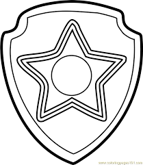 Chase Badge Coloring Page