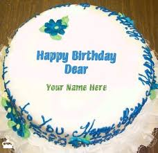 Write Name on Cake Happy Birthday Dear With Name