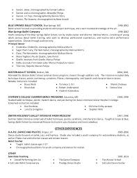 Go Dancer Resume Sample Ballet Education 2