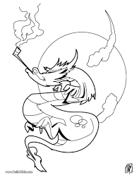 Strange Dragon Smoking Coloring Page