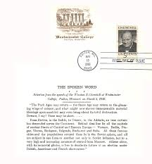 Iron Curtain Speech 1946 Definition by Churchill Fdc Miscellaneous Item