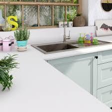 plan de travail cuisine blanc plan de travail stratifié mat edition blanc mat l 315 x p 65 cm