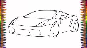 How to draw a car Lamborghini Gallardo easy step by step for kids and beginners 1005