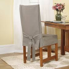sure fit duck linen short dining room chair slipcover
