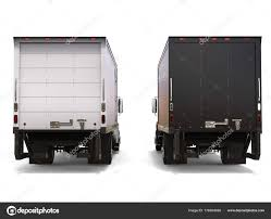 Black White Refrigerator Trucks Side Side Back View — Stock Photo ...