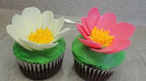 Cake Decorating Books Online by Decorating Cupcakes 101 Water Lilies Youtube