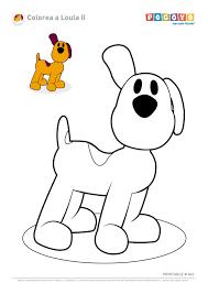 Colorear Pintar El Perro De Pocoyó