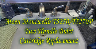 plumbing repairs how to replace moen t5270 t5270p monticello two