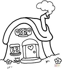 Click The Little Cottage Coloring Pages