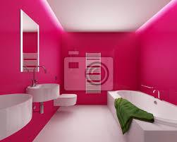 fototapete modern hip minimal pop trendigen rot weißes badezimmer