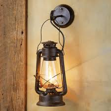 Outdoor Lighting Federal Style Wall Led Large Rustic Lantern Sconce