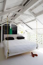 Dazzling Futon Chair Bed Technique Ausgebauter Dachboden Balken Eaves Hngebett Hanging Schwebend Tafelwand Scandinavian Bedroom Decoration Ideas With