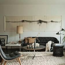 schwarzes leder wohnzimmer sofa dekoration ideen