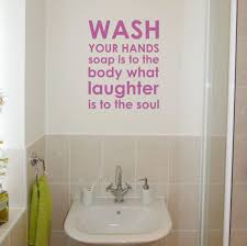 Purple Wall Quotes Bathroom Art Above The Sink