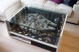 Fantastic Idea To Display A Beloved Creation In Safe Stylish Way Lego Falcon Encased Coffee Table