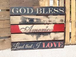 Rustic Pallet Wood American Flag Wall Art On Etsy 6000
