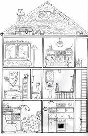 coloriage maison à imprimer liberate