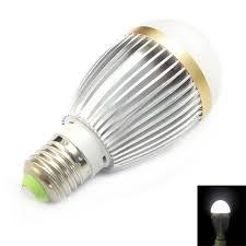 e27 7w 85 265v 700 lumens 6000k gold pc sandblast mask led bulb
