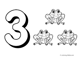 Number 3 Coloring Pages Printable