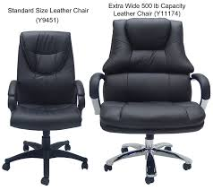 Hercules 500 Lb Office Chair by Extra Wide 500 Lbs Capacity Leather Desk Chair W 28