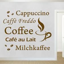 möbel wohnen wandaufkleber kaffee wand aufkleber