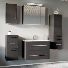 badezimmermöbel set mit 80cm keramik waschtisch abuja 02 anthrazit sei
